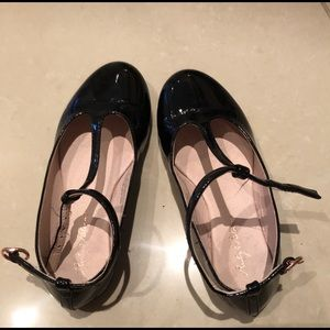 """black """"patent leather"""" looking shoes"""